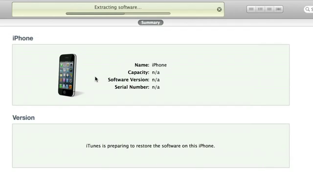 Restoring iPhone via iTunes