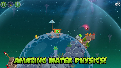 Screenshots of Angry Birds Space for iPhone and iPad