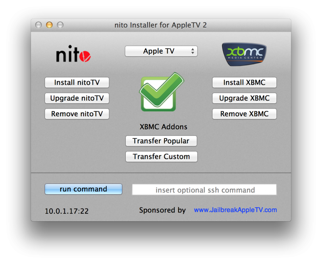 How to install BXMC on Apple TV 2