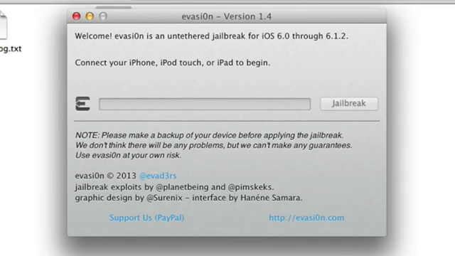Click to Start Jailbreak iOS 6.1.2 using Evasi0n