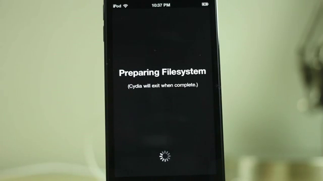 Cydia Preparing File System
