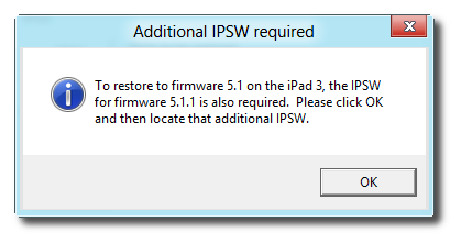 Redsn0w: Select Additional IPSW File