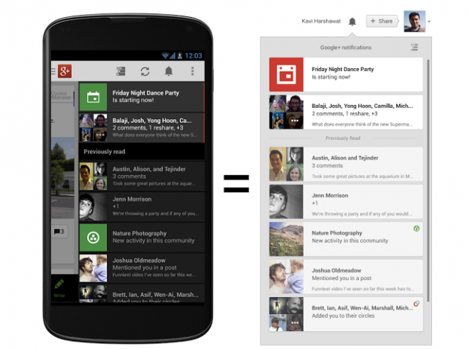 Google Plus Updates App for Android/iPad and iPhone