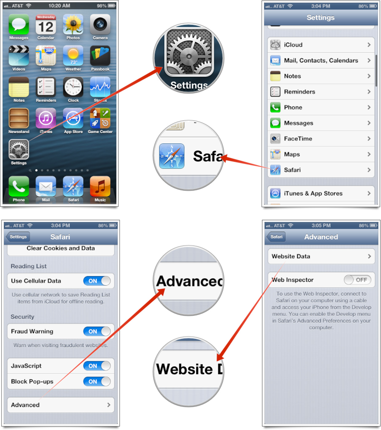 Guide to clear your website data on Safari for iPhone or iPad