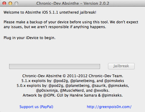 Use Absinthe to Jailbreak iOS 5.1.1