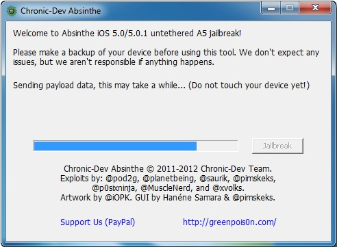 Greenpois0n Absithe: How to Jailbreak iOS 5.1.1