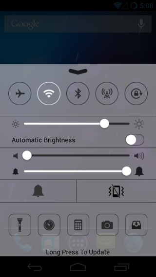 Get iOS7 Control Center on your Android