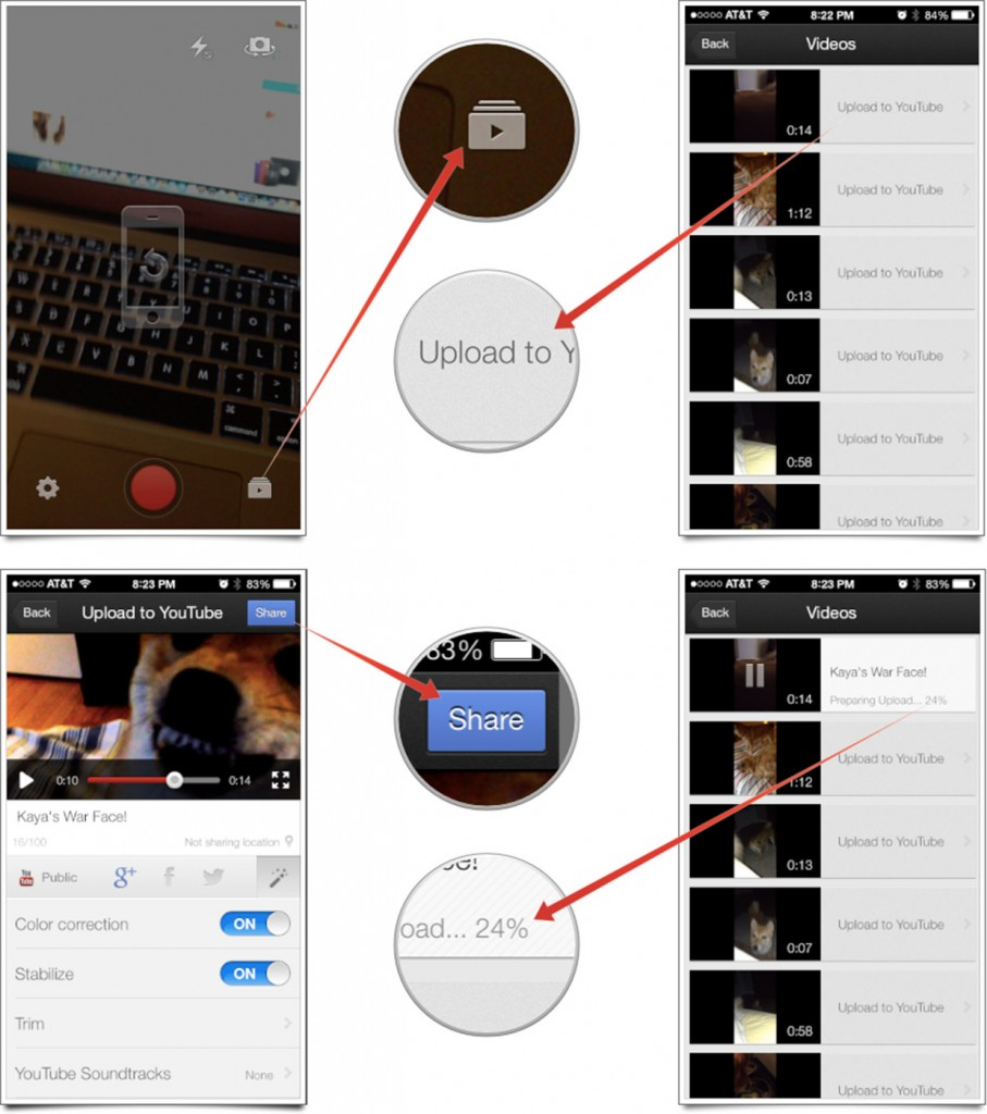 How to use YouTube Capture to Upload videos to your Youtube Account from iPhone, iPad