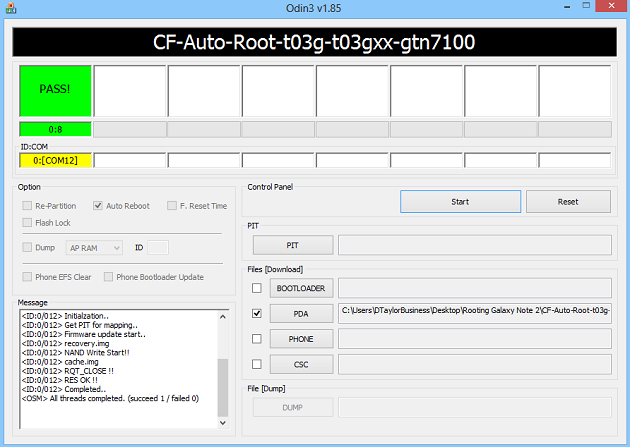 Root Samsung Galaxy Note 2 using Odin