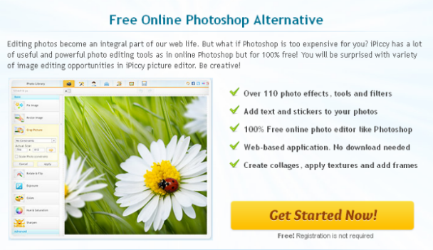 iPiccy - Free Online Photoshop Alternative