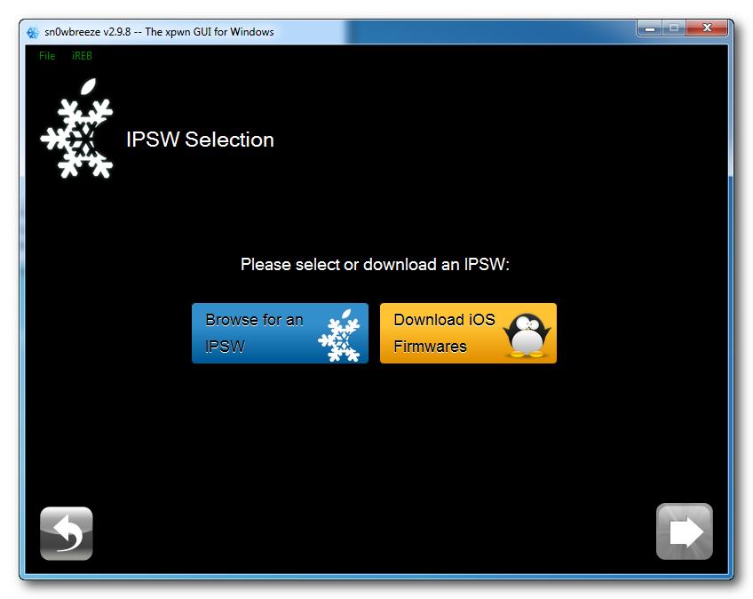 Sn0wbreeze Browse IPSW