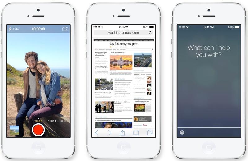 Camera, Safari, and Siri