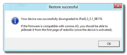 Redsn0w: iPad Successfully Downgrade