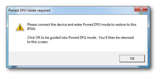 Redsn0w: Enter into Pawned DFU Mode