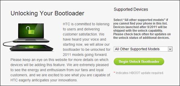 HTCdev - Unlock Bootloader