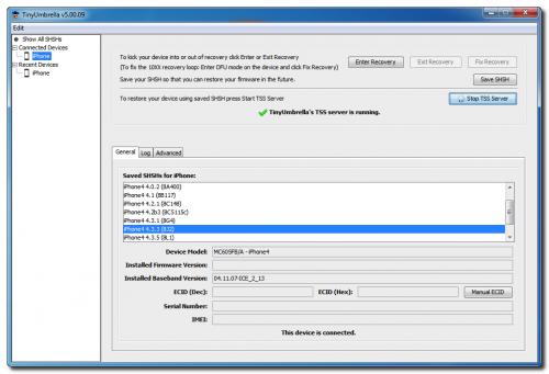 TinyUmbrella: Start TSS Server to Fix Error 3194