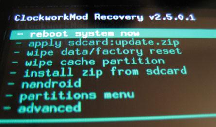 ClockworkMod Recovery for Nexus 7 (2013)